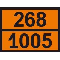 Табличка небезпечних вантажів Аміак 268-1005