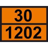 Табличка небезпечних вантажів Дизель 30-1202