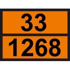 Табличка небезпечних вантажів Нафтопродукти 33-1268