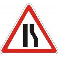 """Знак """"Звуження дороги"""" (з прав боку) 900мм 1.5.2"""