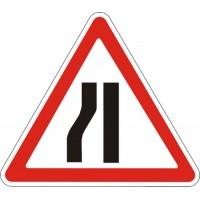 """Знак """"Звуження дороги"""" (з лівого боку) 900мм 1.5.3"""