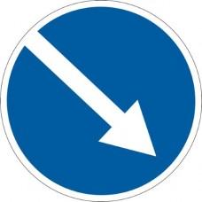 "Знак ""Об'їзд перешкод з правого боку"" 900мм 4.7"