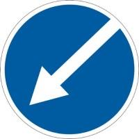 """Знак """"Об'їзд перешкод з лівого боку"""" 700мм 4.8"""