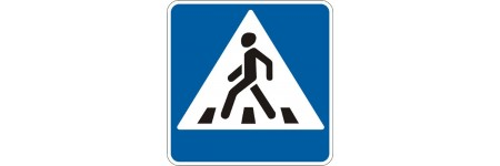"""Знак """"Пішохідний перехід праворуч від дор"""" 5.35.1"""