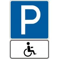 """Знак """"Місце стоянки + для інвалідів"""" 5.38+7.17"""