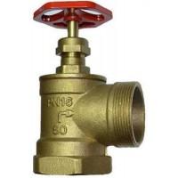 Кран пожежний ДУ-50 кутовий латуний (1,3кг)
