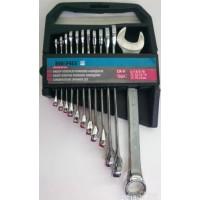 Набір ключів рожково-накидних 12 шт 6-22мм Cr-V.Berg **