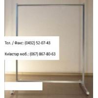 Стійка 1-а довжина -100 см, вис.- 130 см, d-25 мм, серий- металік