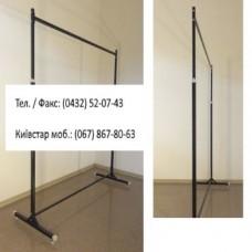 Стійка 1-а довжина-125см, регульована, чорна, d 25x25мм