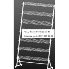 Стійка взуттєва 7 полиць 90 см, кв.17