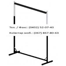 Стійка 1-а довжина 140 см, чорна, (без флейт)
