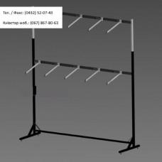 Стійка 2 яруса, довжина 2 м, пристінна, чорна (без флейт)