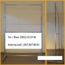 Стійка 2-х ярусна довжина 1,5 м сірий- металік