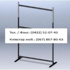Стійка 2-х ярусна довжина 2 м пристінні, сірий-металік (без флейт)