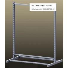 Стійка острівна L-1,48 закрита (2-ноги 3-перемички), сірий - металік